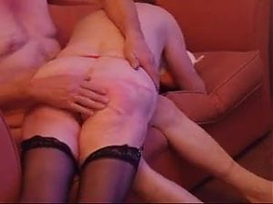 Granny gets a spanked arse and sucks my cock