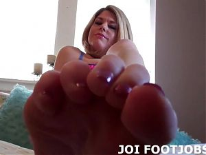 Your cock would feel so good between my feet JOI